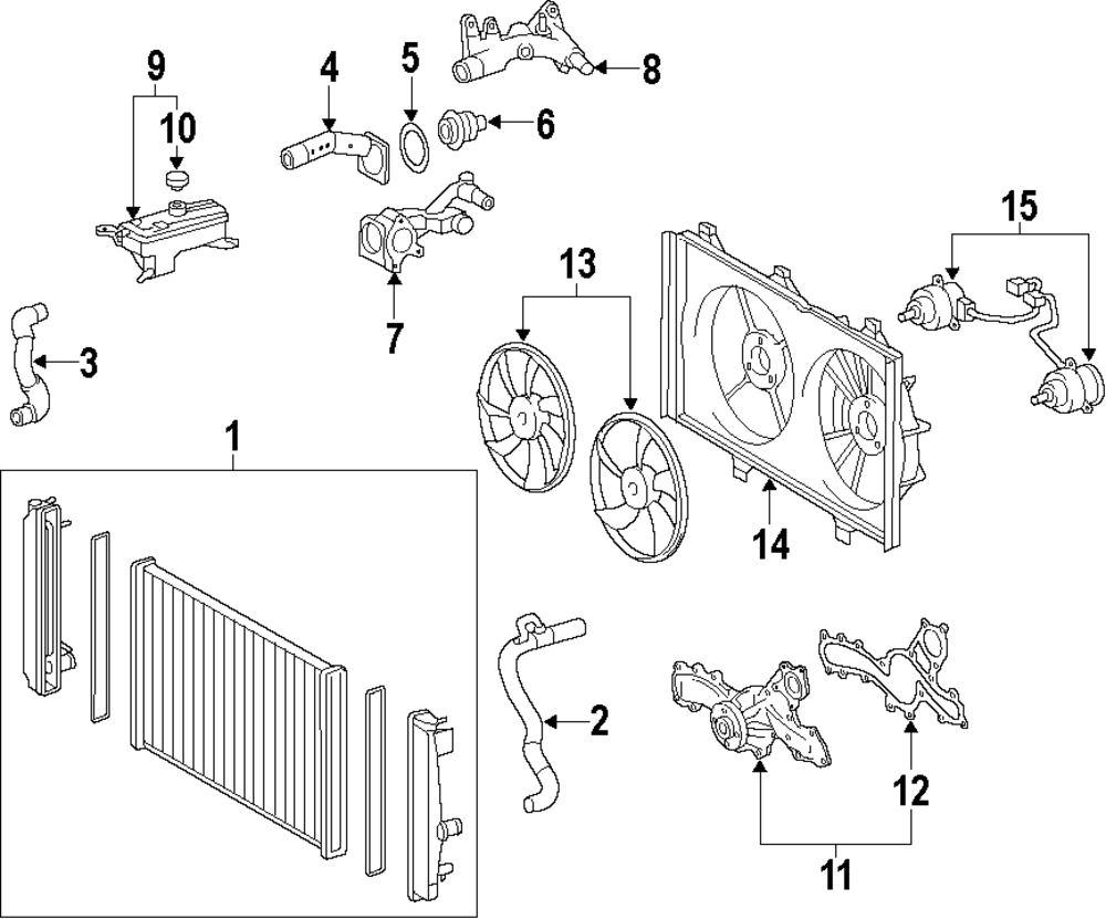 Mopar Direct Parts Dodge Chrysler Jeep Ram Wholesale Retail Toyota Camry Le Engine Diagram Of 2012 Genuine Fan Blade Toy 16361ad010