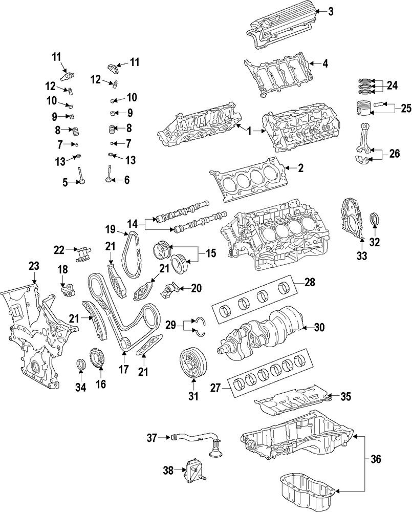 Browse A Sub Category To Buy Parts From 1998 Land Cruiser V8 Engine Diagram Genuine Toyota Overhaul Gasket Set Toy 041110s081
