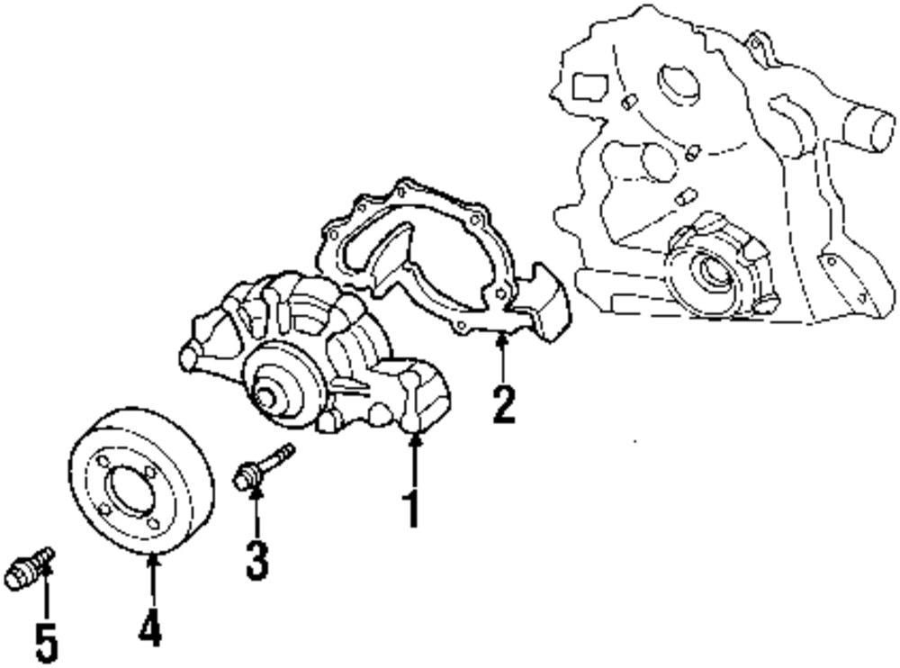 2004 Pontiac Bonneville Water Pump Parts