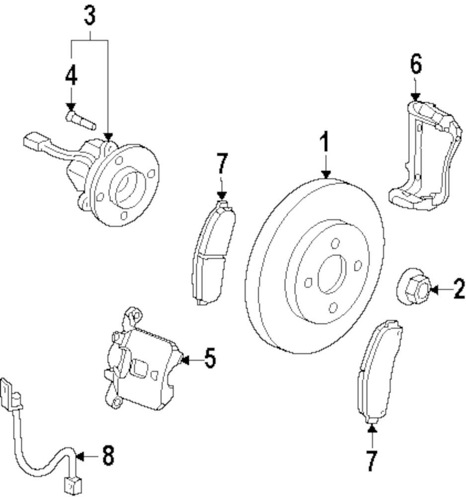 Mopar Direct Parts Dodge Chrysler Jeep Ram Wholesale Retail Pontiac Brakes Diagram Genuine Brake Pads Pon 25809846