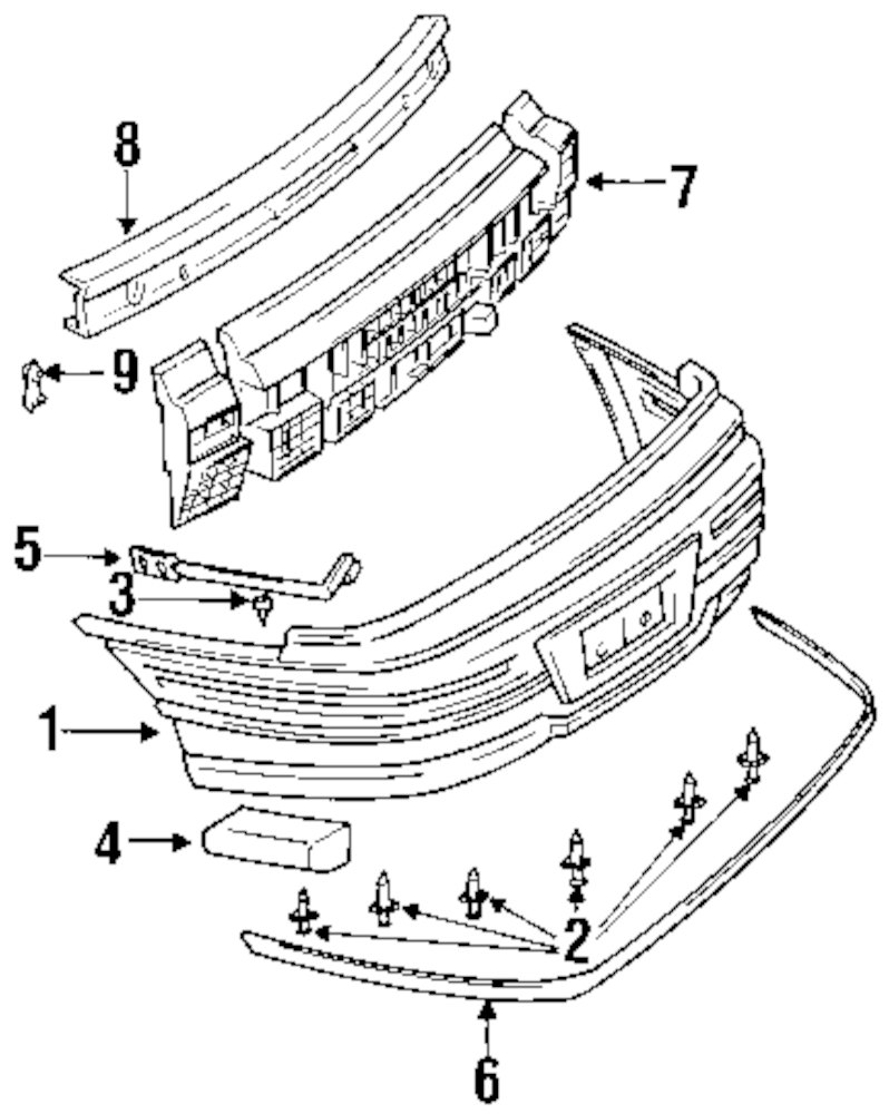 buy rear bumper parts for 1997 mercury mountaineer vehicle Mercury Mountanier genuine pontiac bumper cover side support pon 22640486