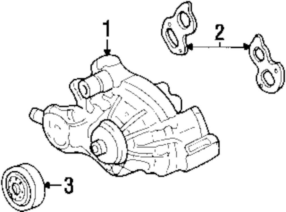 2001 Chevrolet Suburban 1500 Water Pump Parts