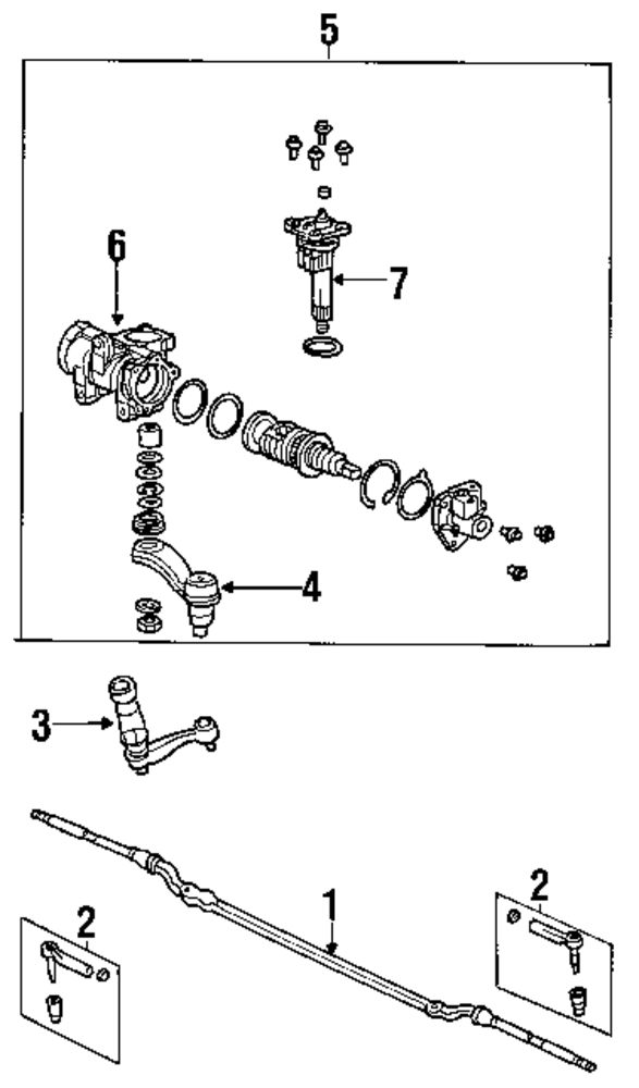 inner and outer tie rod diagram