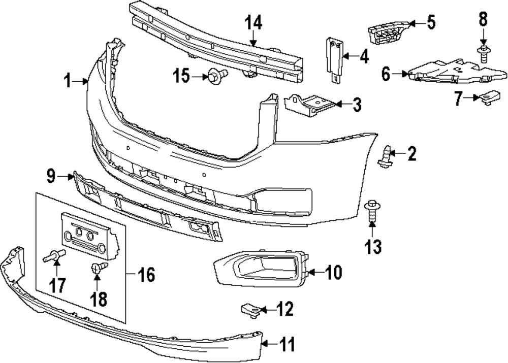 new oem buick lacrosse front bumper fascia support parts diagram  buick  auto wiring diagram