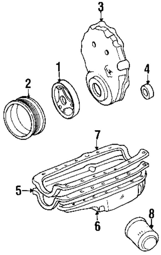 5 7l 350ci mfi gas ohv engine diagram