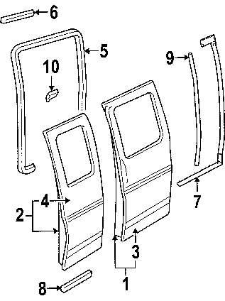 2013 Chevrolet Express 2500 Side Loading Door Parts