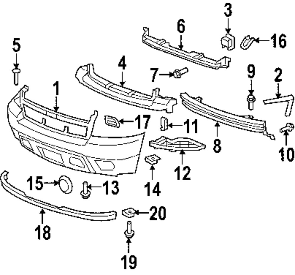 body hardware parts for chevrolet 4Runner Third Row Seat genuine chevrolet center support che 15882454