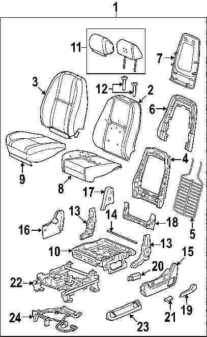 Hyundai Santum Fe Headrest