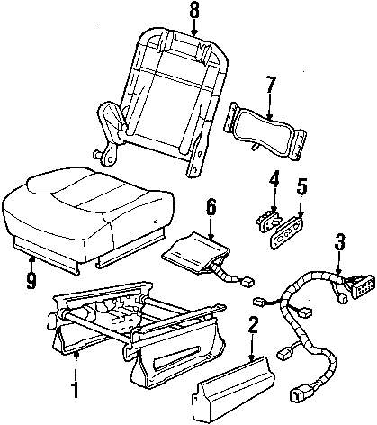 browse a sub category to buy parts from this is not a real site Wiring Diagram of Catnapper 4847 genuine chevrolet seat back frame che 12549919
