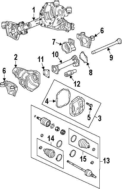 2008 chrysler sebring parts diagram rear subframe