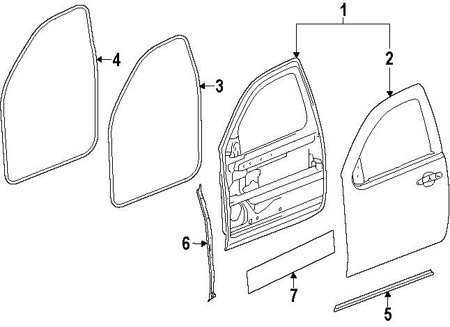 gmc door part diagram