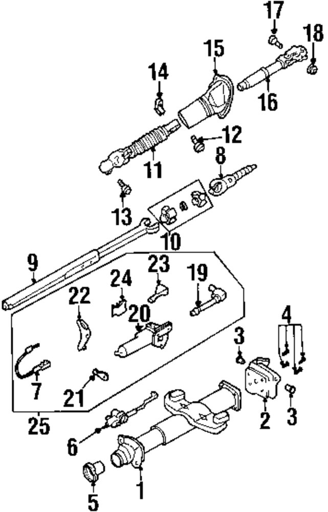 mopar direct parts dodge chrysler jeep ram wholesale retail parts 1989 Silverado Steering Column Diagram genuine cadillac switch cad 23190137