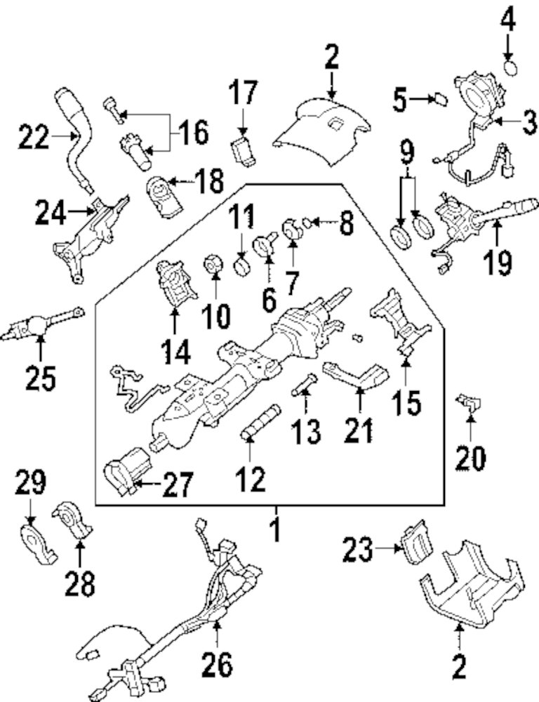 buy steering column steering column assembly parts for nx200t lexus 1969 GM Steering Column Diagram steering column