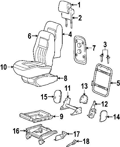 1992 DODGE MONACO Rear Seat Components Parts
