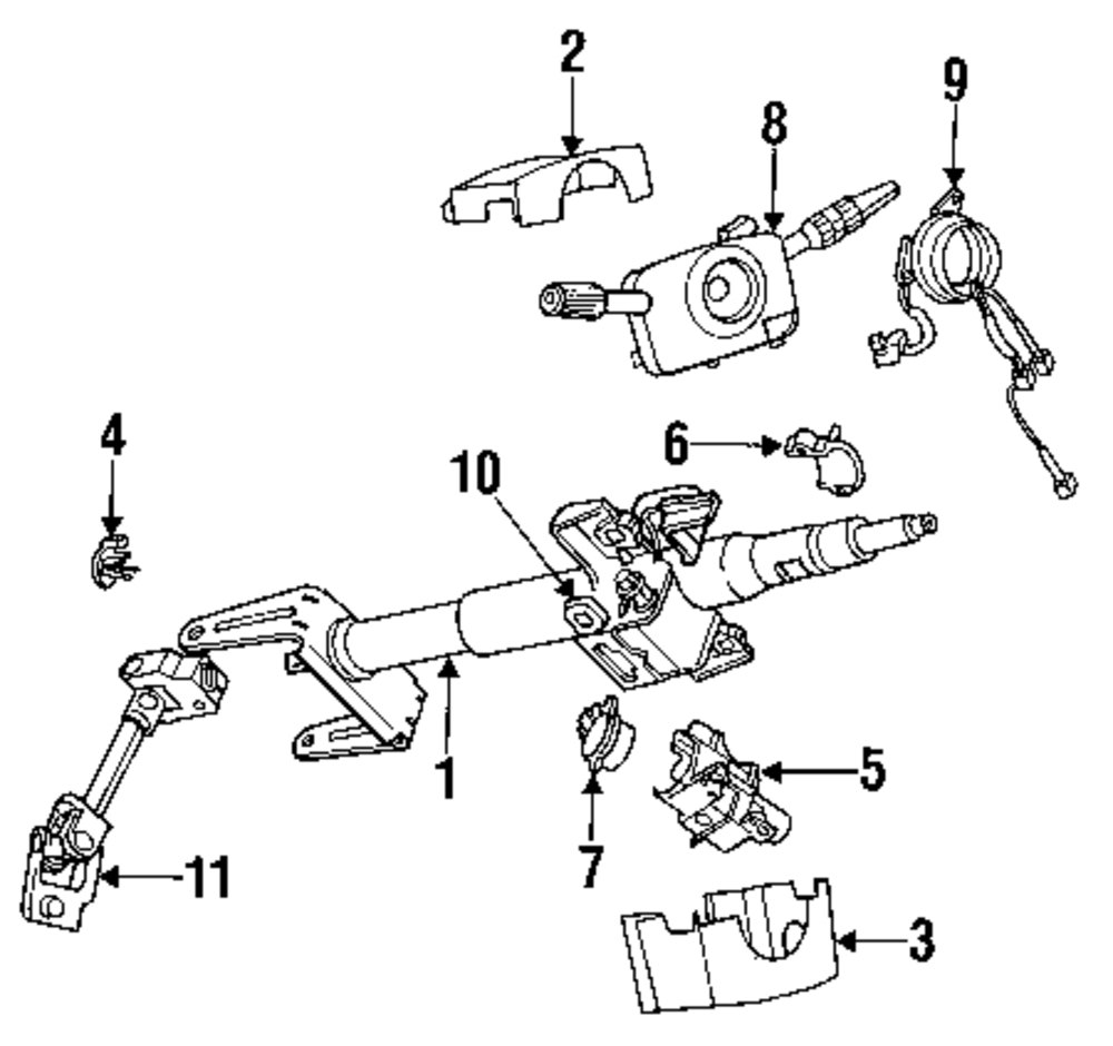 Browse A Sub Category To Buy Parts From This Is Not Real Site Saturn Steering Column Diagram Genuine Bushing Sat 21044529