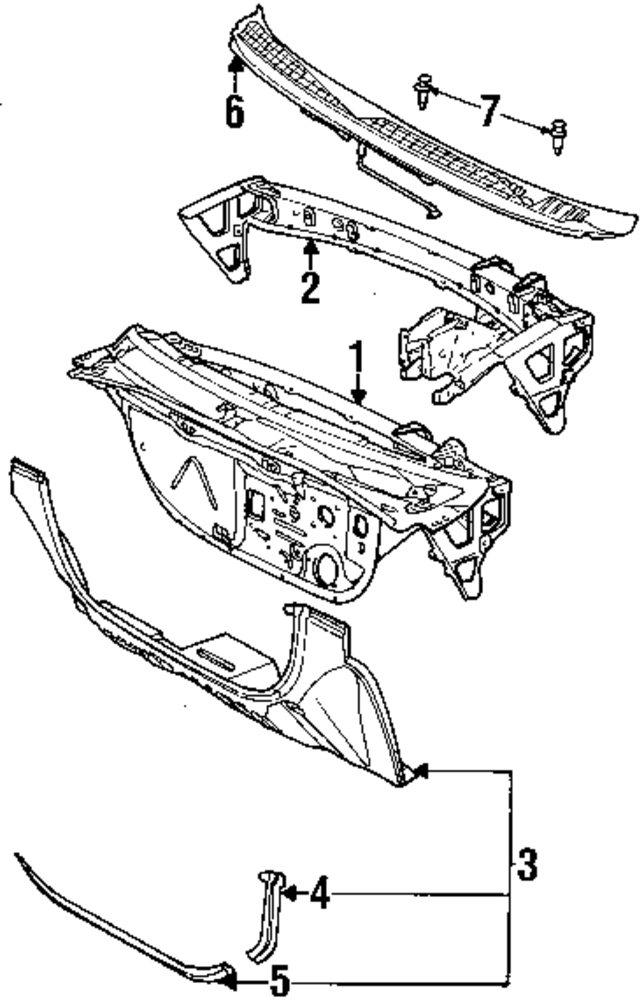 1998 Saturn Sl Cowl Parts