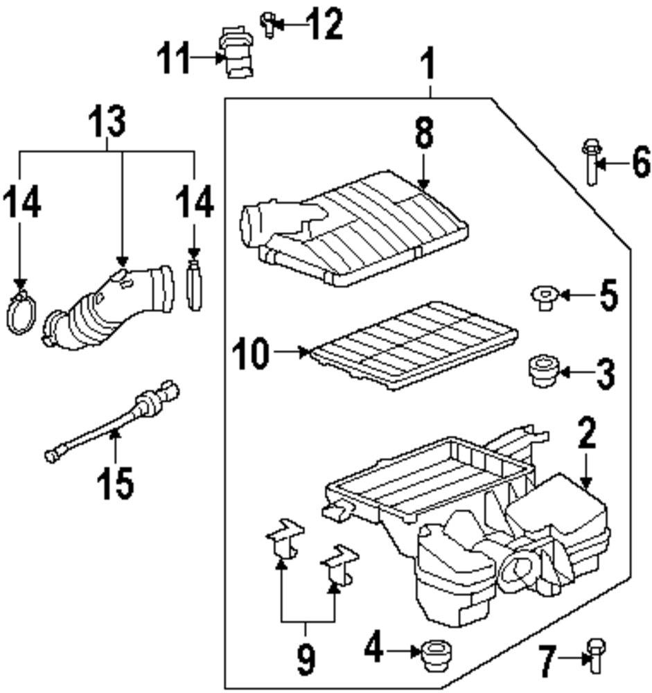 Mopar Direct Parts Dodge Chrysler Jeep Ram Wholesale Retail Saturn Sw1 Engine Diagram Genuine Air Mass Sensor Bolt Sat 19129919
