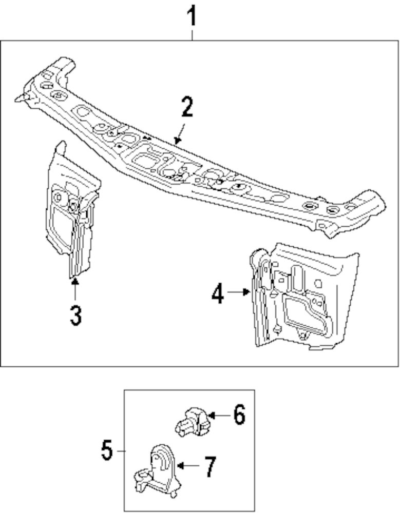 lexus is 250 radiator support diagram  lexus  auto parts
