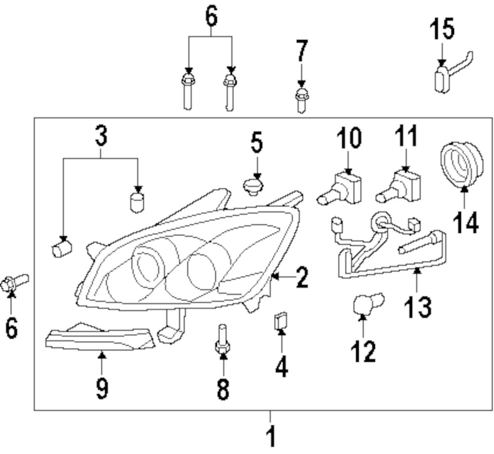 2007 Saturn Outlook Front Lamps Parts This Is Not A Real Site Headlights Diagram Genuine High Beam Bulb Sat 1999437