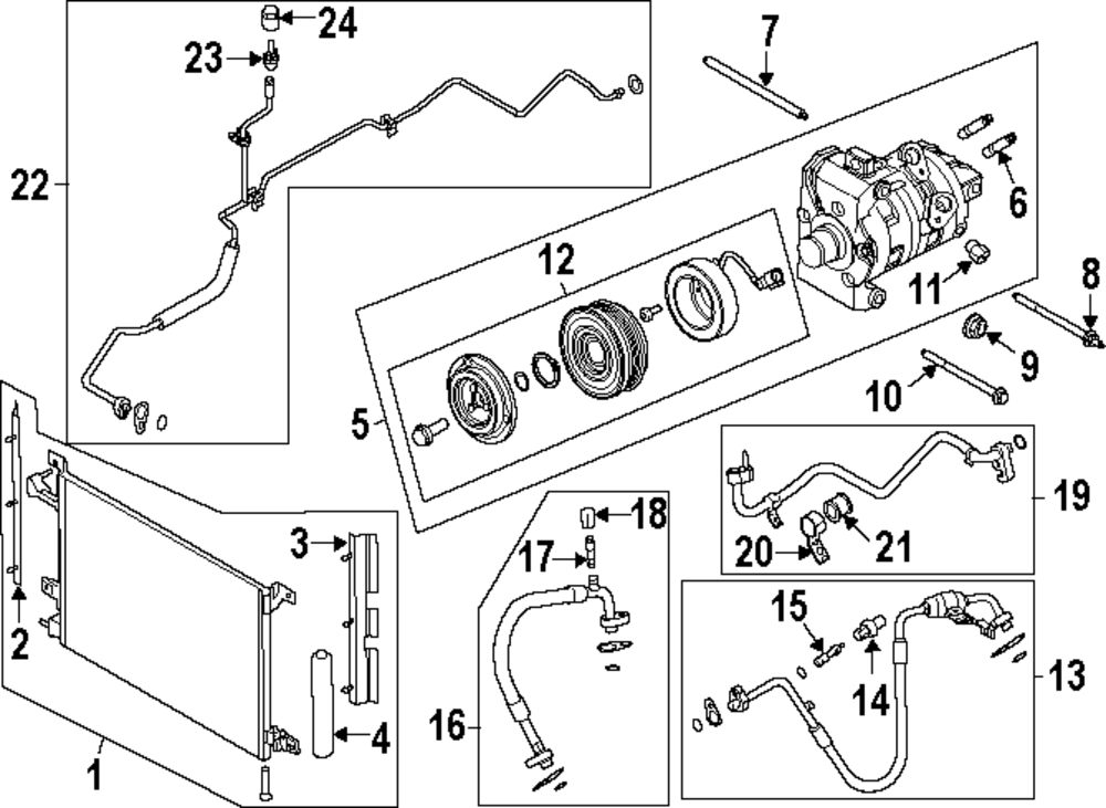 2012 Ford Mustang Air Conditioner And Heater Parts