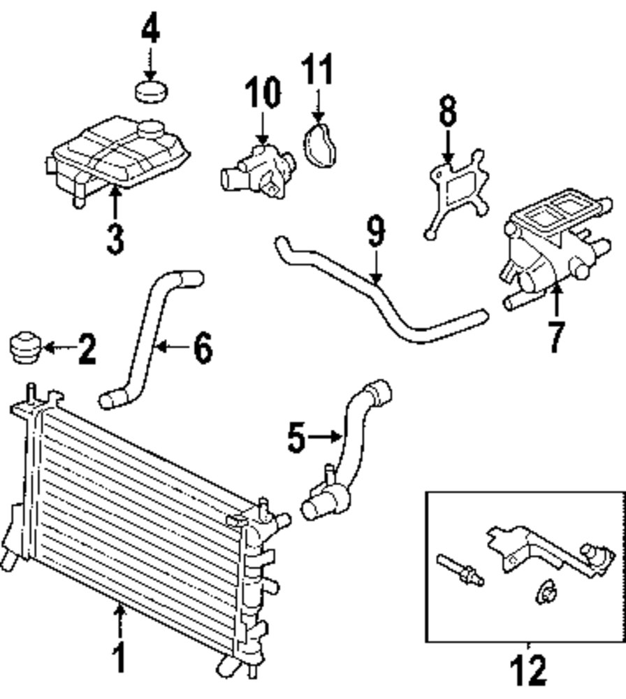 2000 ford focus cooling system diagram  2000  free engine