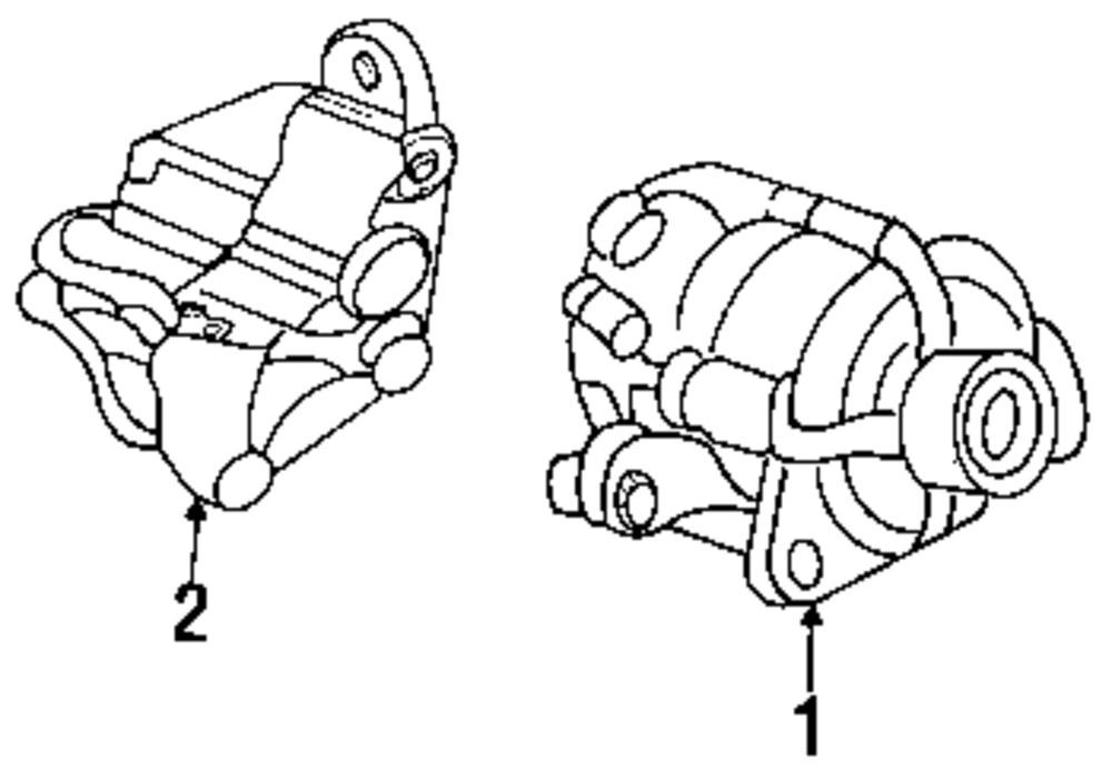 2002 Ford Focus Alternator Parts