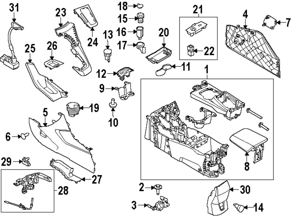 Ford Edge Parts Diagram
