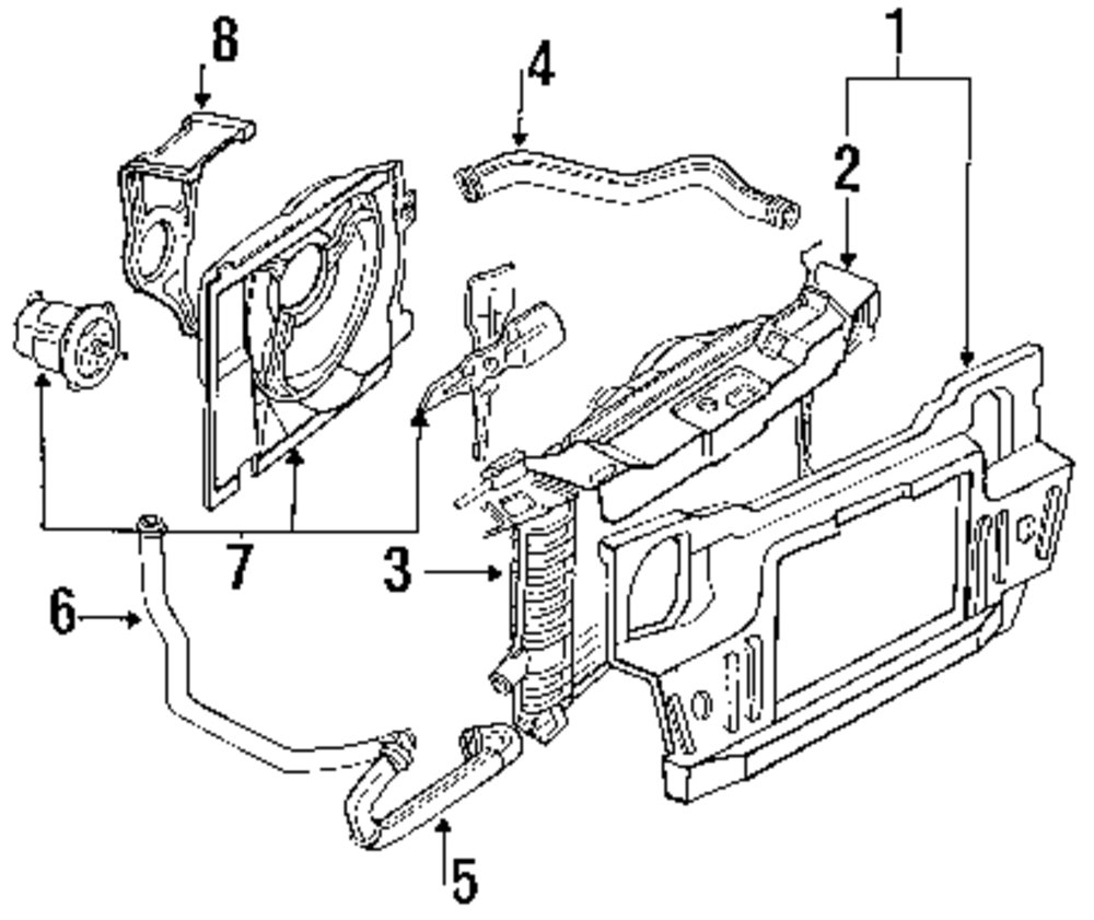 1994 ford tempo radiator and ponents parts this is not a real 1980 Ford Tempo genuine ford upper hose for f33z8260a
