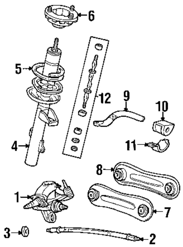 ford taurus suspension diagram  ford  auto parts catalog and diagram