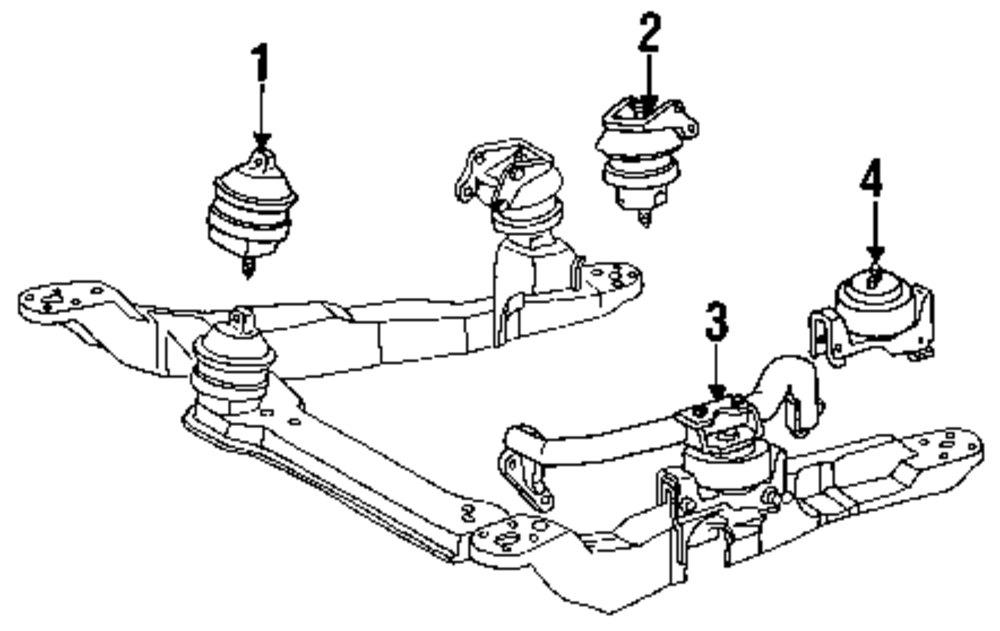 2003 ford taurus engine mount
