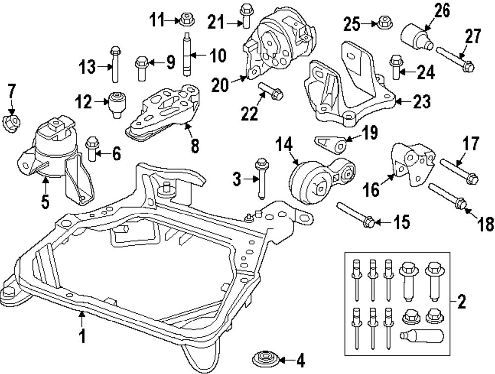 Ford Fusion Engine Mount Diagram Diy Enthusiasts Wiring Diagrams