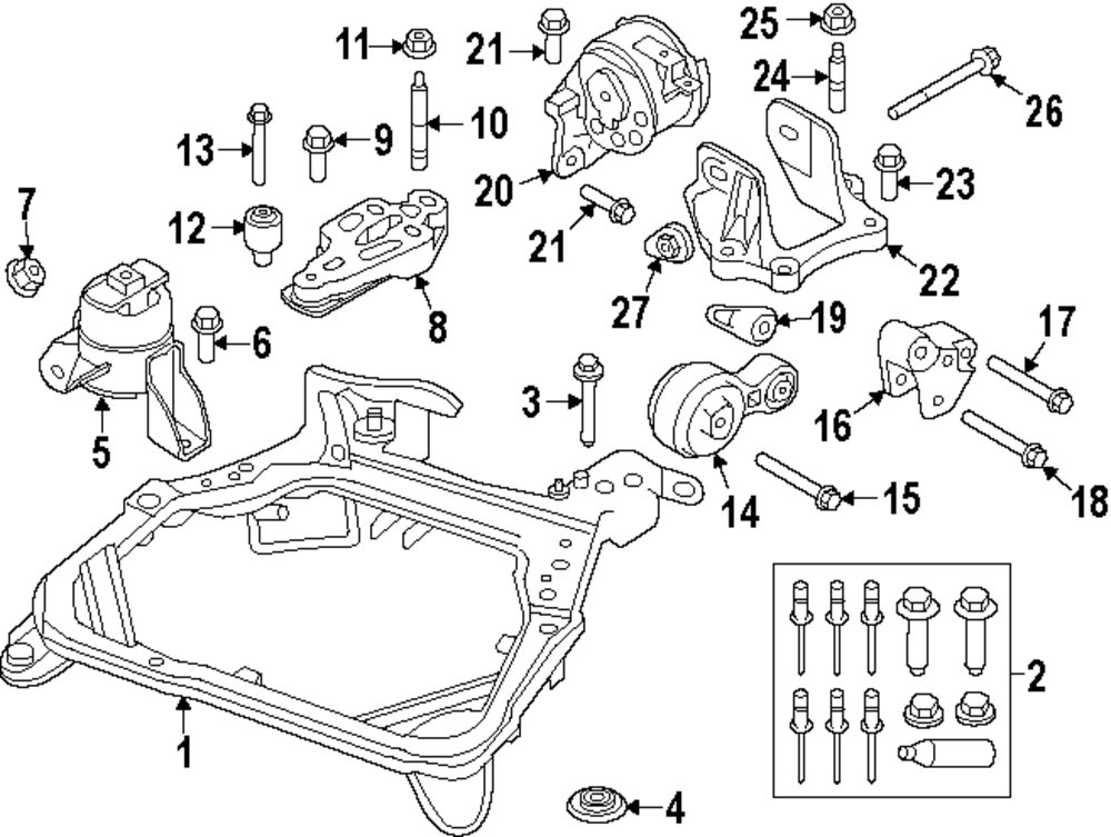2010 ford fusion engine and trans mounting parts mopardirectparts rh mopardirectparts com
