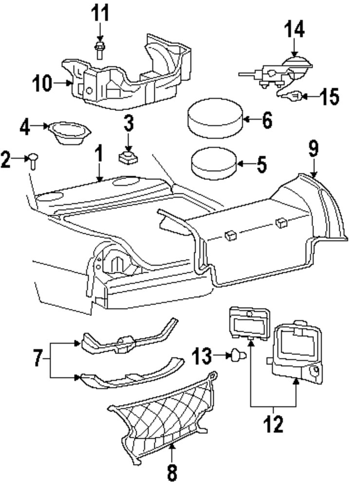 2010 Mercury Grand Marquis Rear Body And Floor Parts