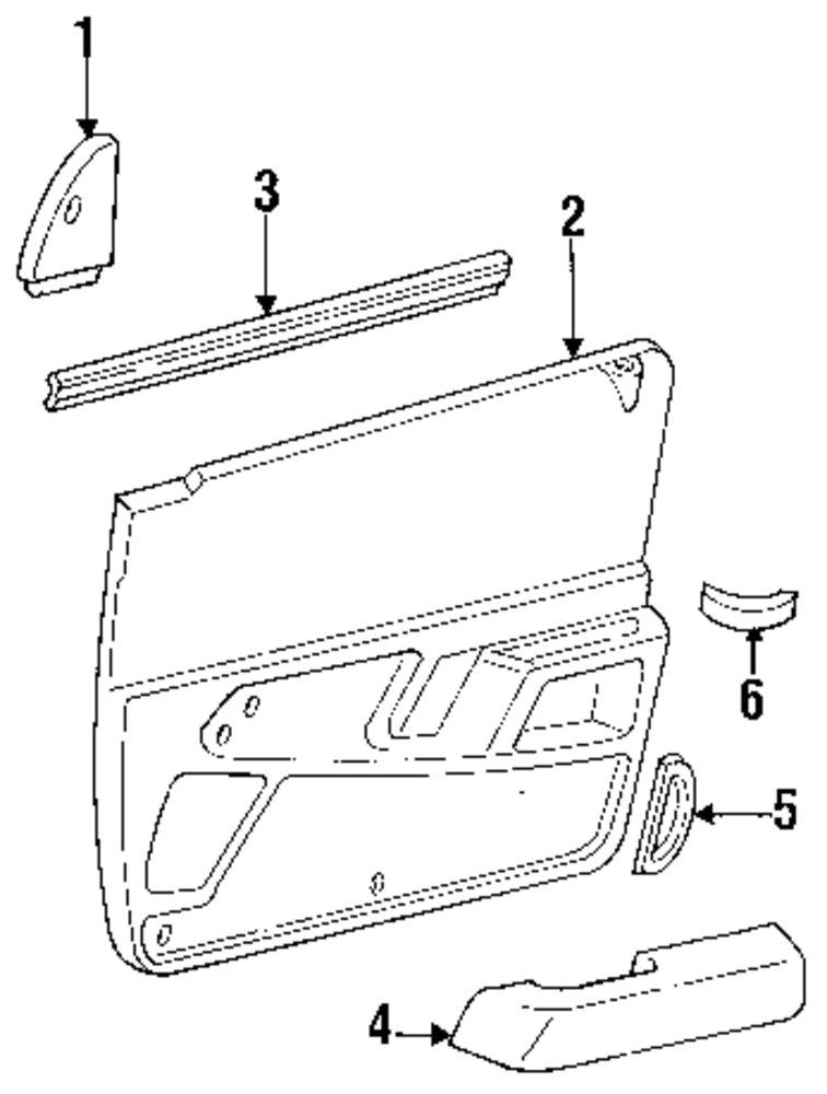 1998 Mercury Mountaineer Quarter Panel