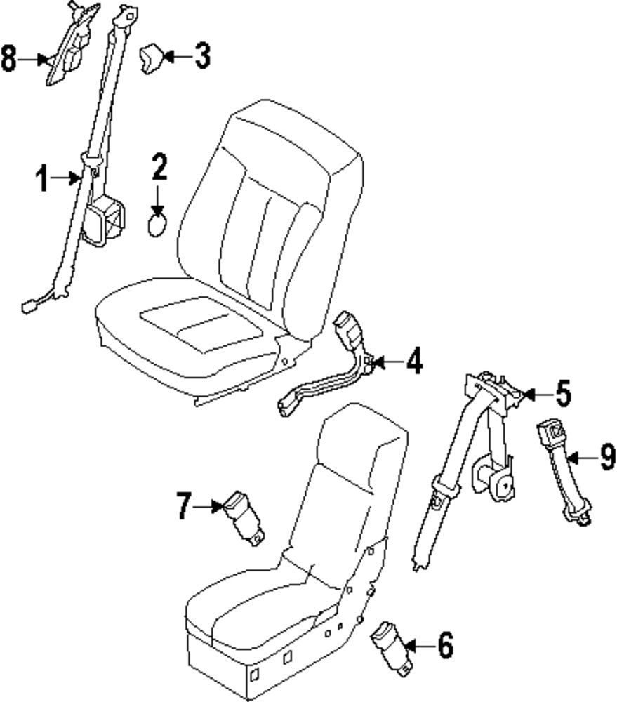 2012 Ford F 150 Front Seat Belts Parts This Is Not A Real Site Belt Retractor Diagrams Genuine Extension For 1w6z63611c22aaa