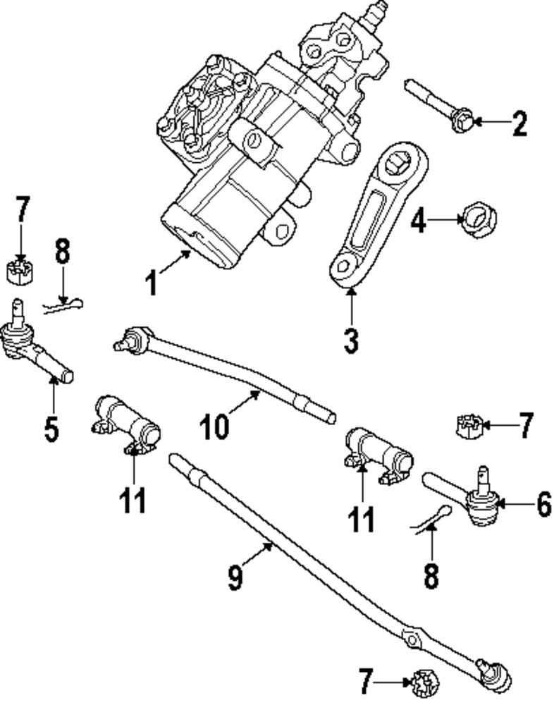 2009 Ford E 350 Super Duty Steering Gear And Linkage Parts