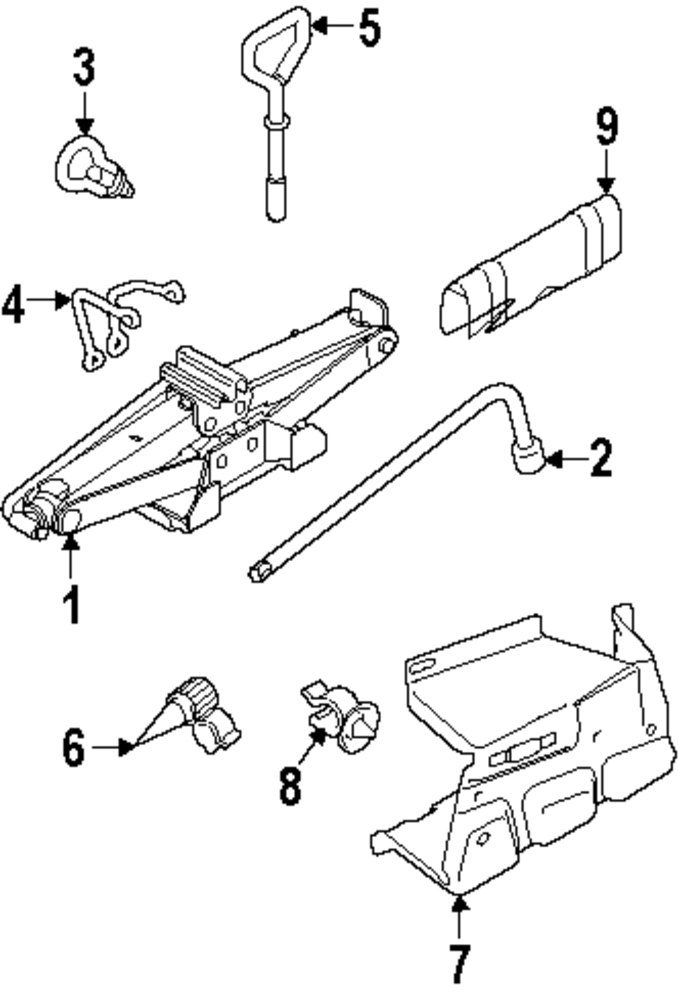 2010 Ford Transit Connect Jack And Components Parts