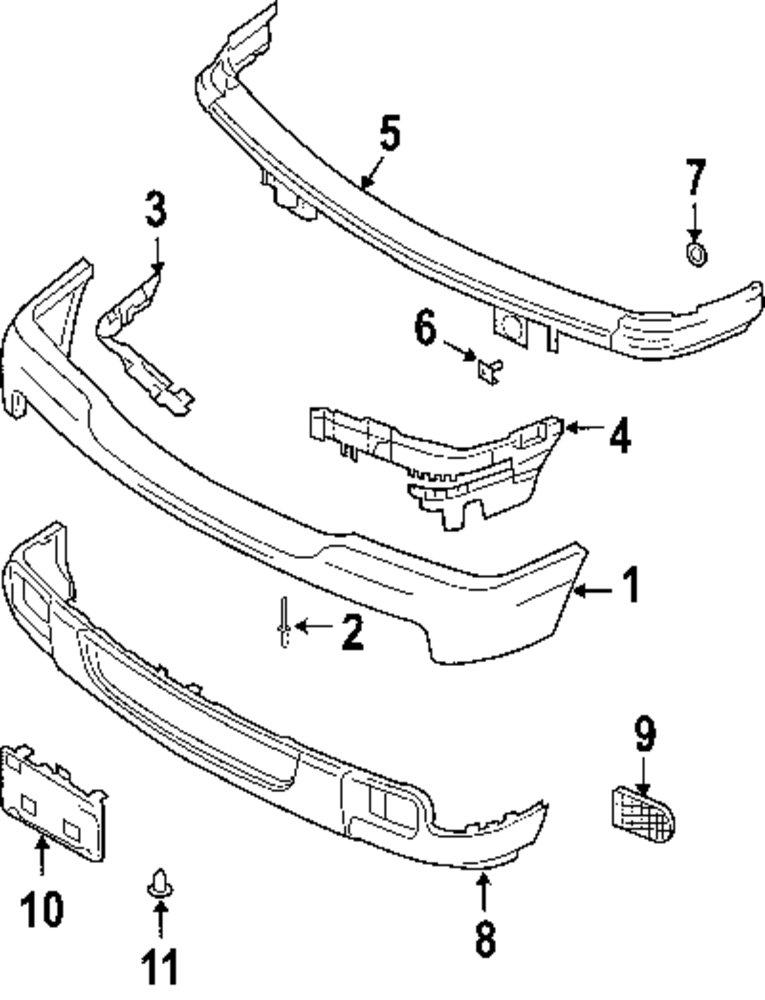 2009 ford ranger bumper and components parts. Black Bedroom Furniture Sets. Home Design Ideas