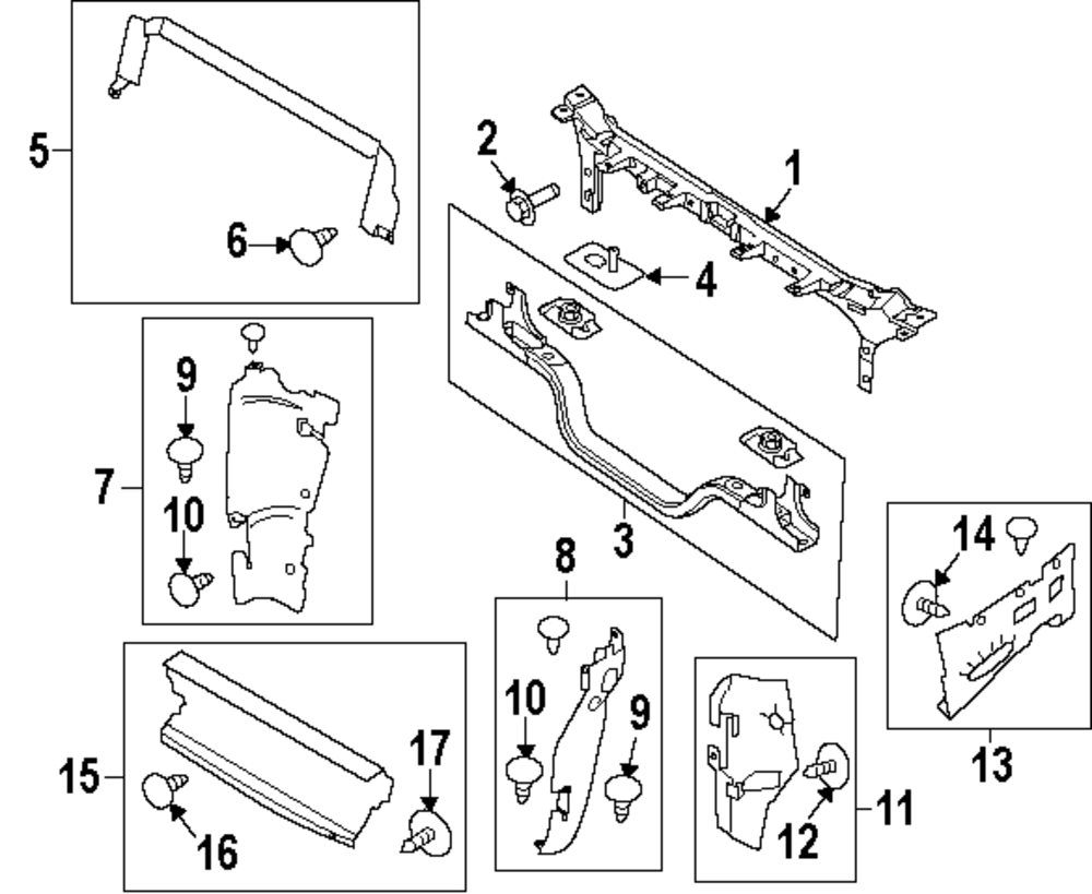 2001 ford excursion radiator support diagram  ford  auto