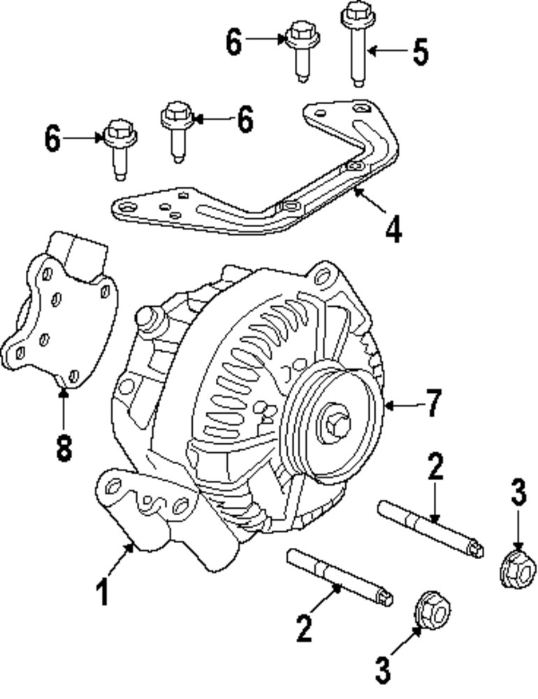 Ford Alternator Brackets