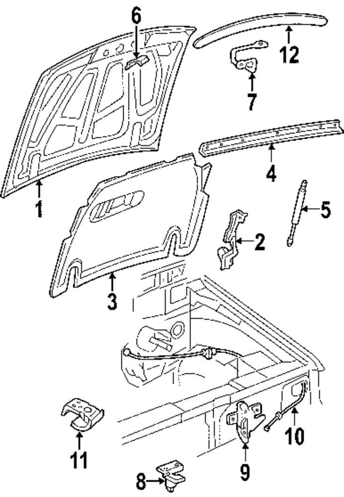 2005 Ford Explorer Sport Trac Hood And Components Parts