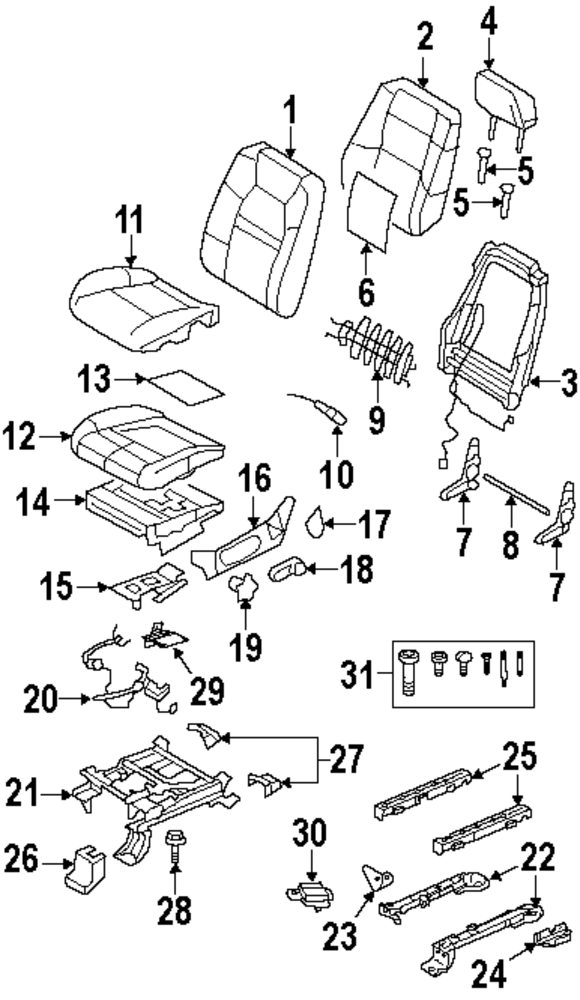2009 Ford Explorer Sport Trac Front Seat Components Parts