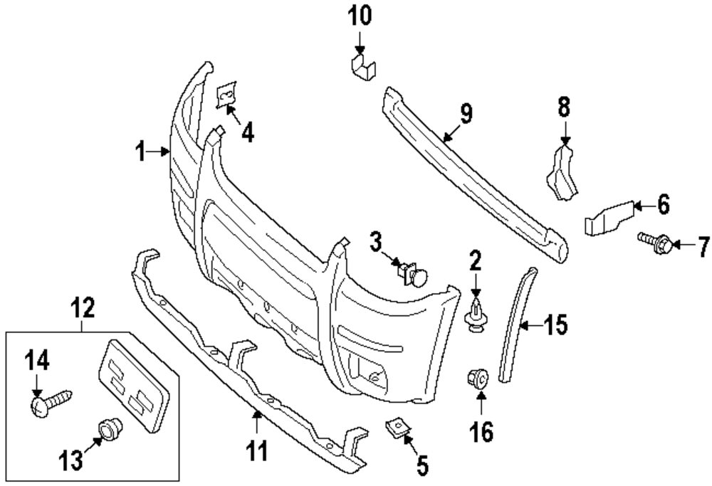 Genuine Ford Bumper Cover For Yl8z17d957eab: 2007 Ford Escape Exhaust System Diagram At Sergidarder.com