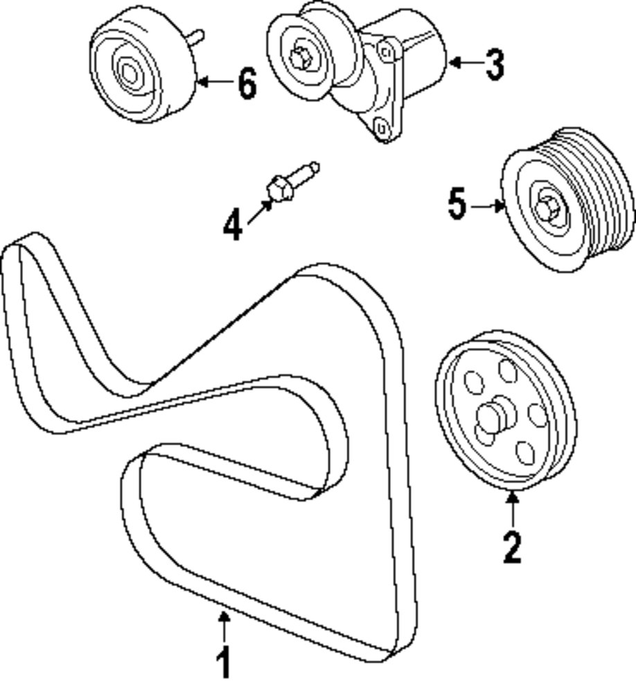 Mopar Direct Parts Dodge Chrysler Jeep Ram Wholesale Retail Ford Pulley Diagrams Genuine Starter Bolt For W500310s437