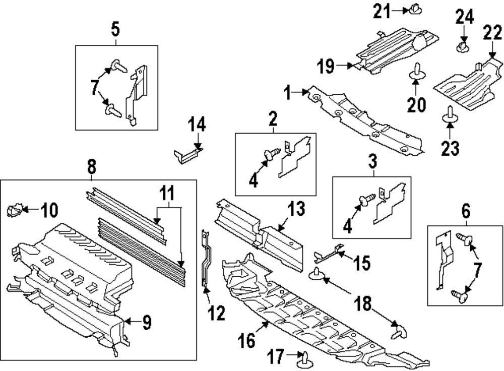 ford escape underbody sheild parts diagram