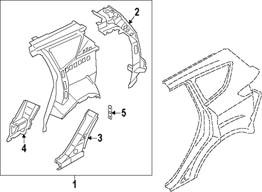 2016 Ford Escape Quarter Panel Parts