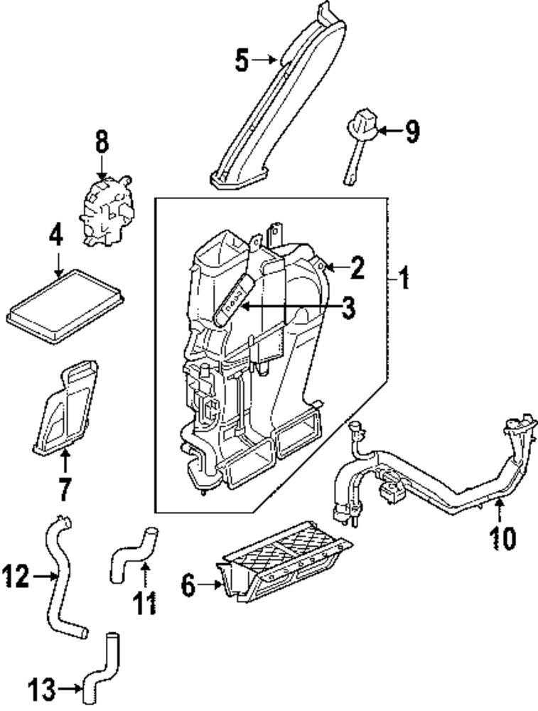 2007 Mercury Mariner Air Conditioner And Heater Parts