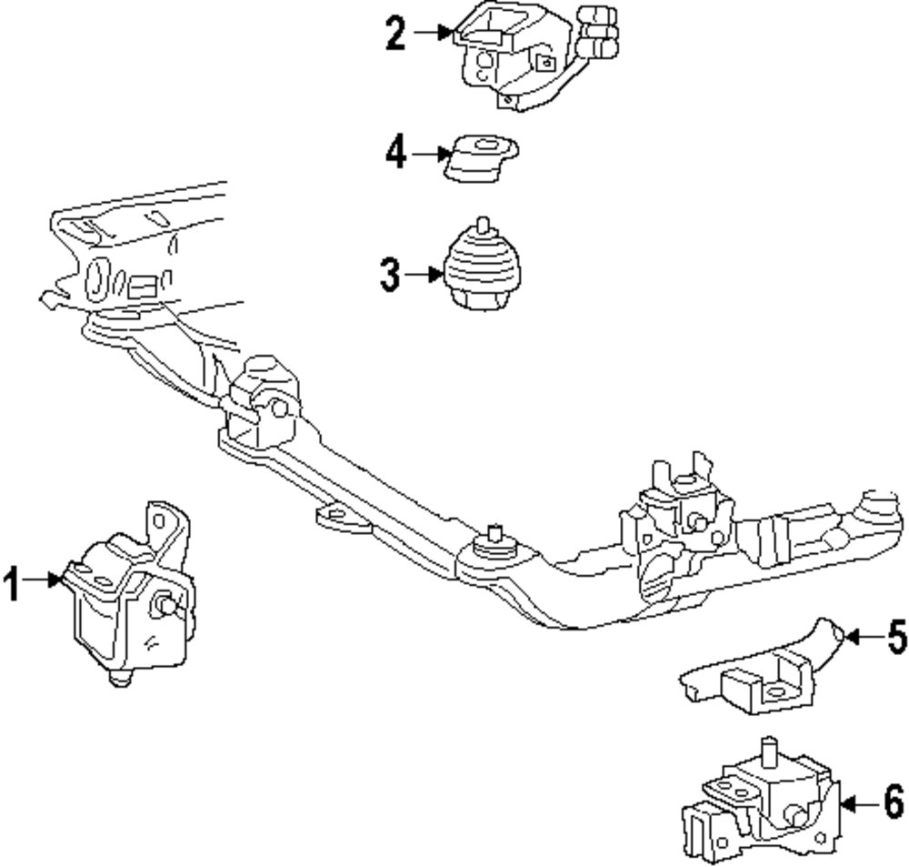 2000 Ford Windstar Engine And Trans Mounting Parts. Genuine Ford Shield For F68z6c038aa. Ford. 1999 Ford Windstar Motor Mount Parts Diagram At Scoala.co
