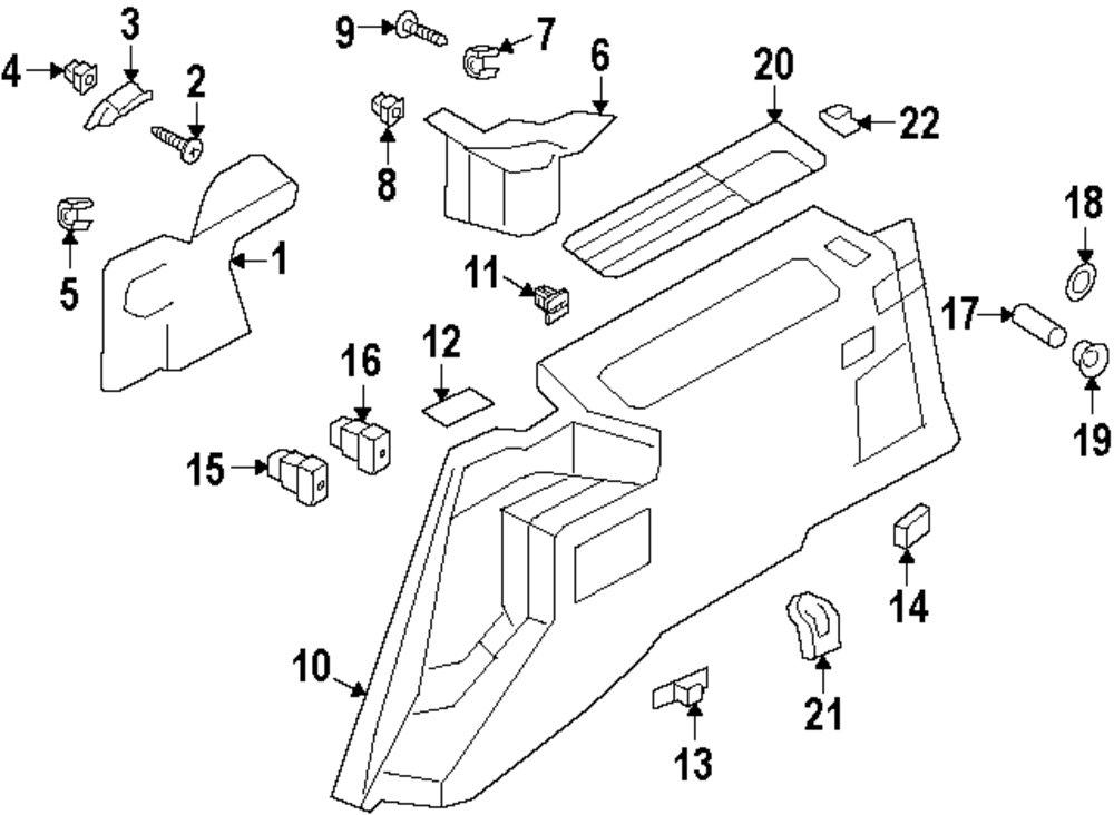 Browse a sub category to buy parts from mopardirectparts Lincoln navigator interior trim parts