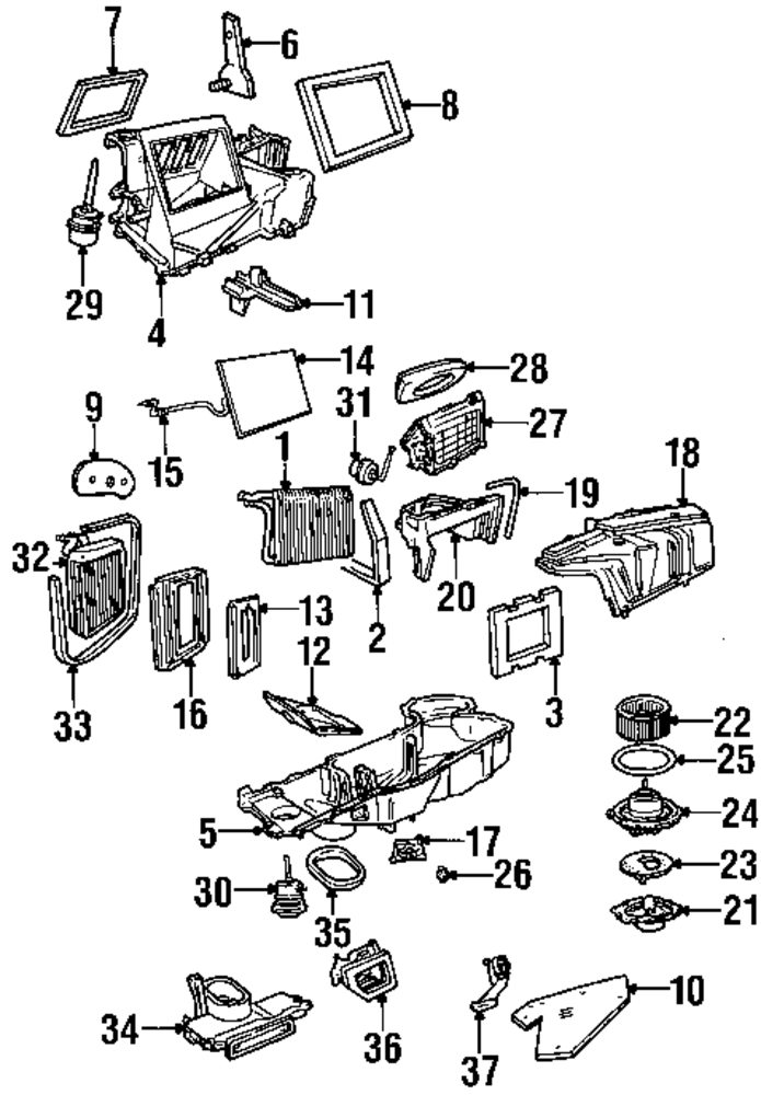 Evaporator And Heater  ponents on 2004 mitsubishi endeavor parts catalog